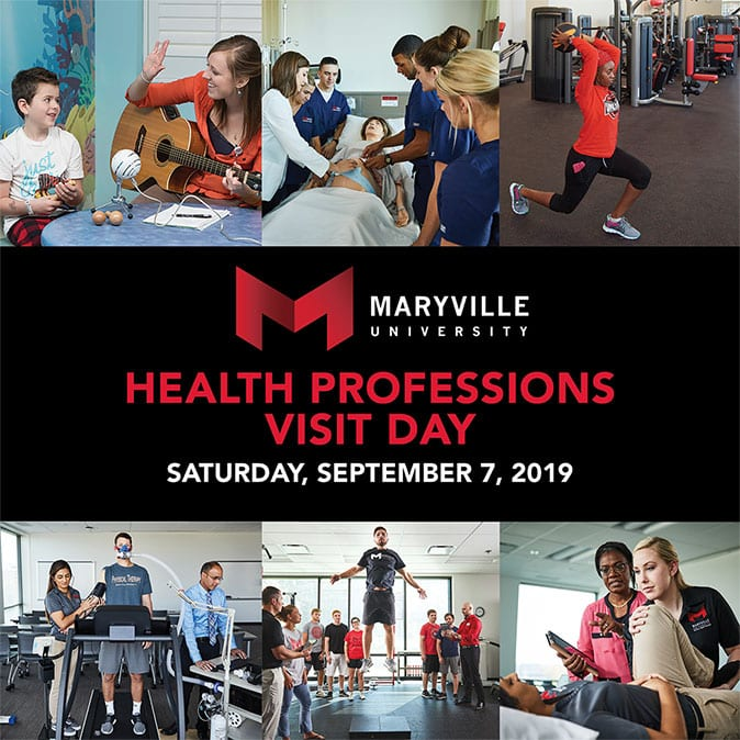 Maryville health professions visit day september 7, 2019