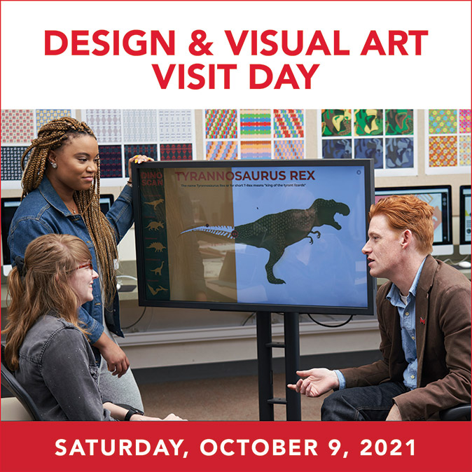 Maryville design and visual art visit day ad