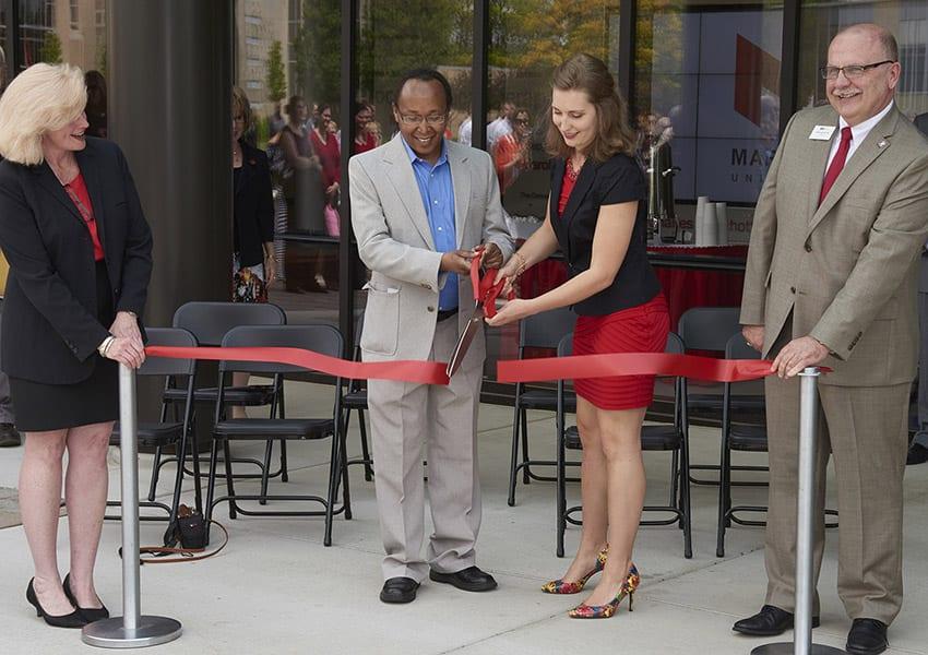 Maryville University's Walker Hall dedication ceremony on May 15, 2015.