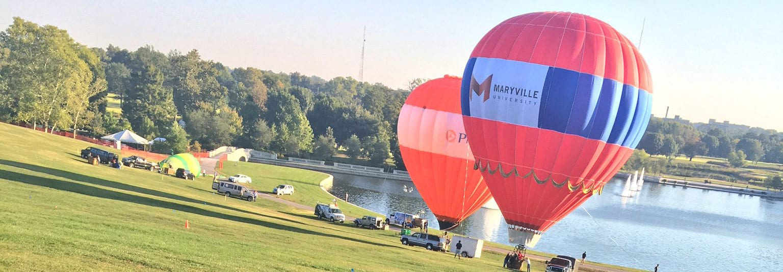 Maryville's balloon at the Great Forest Park Balloon Race