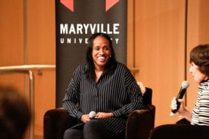 jackie joyner kersee speaking at maryville university leadership event