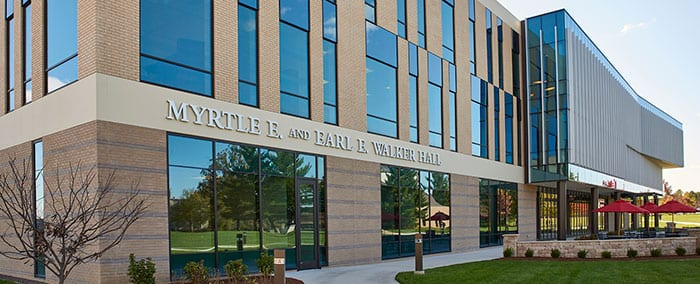 exterior shot of Walker Hall