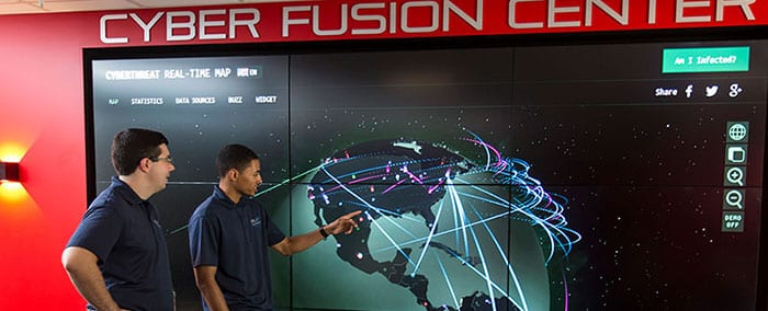 cyber fusion center at Maryville