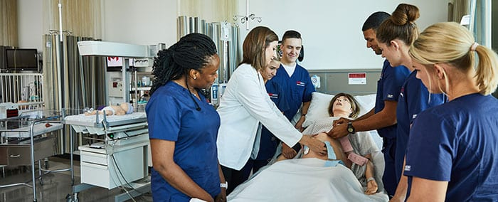 students in nursing lab at Maryville