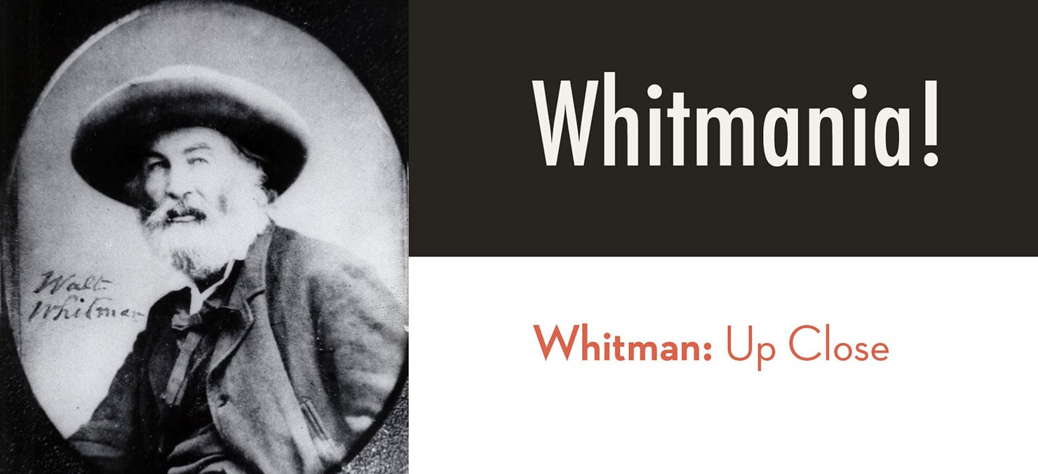 Old picture of Walt Whitman for Maryville's Whitmania! event