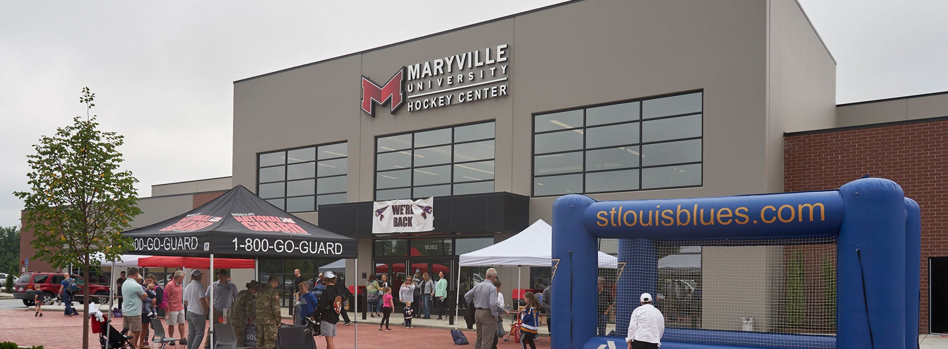 entrance to maryville ice hockey center