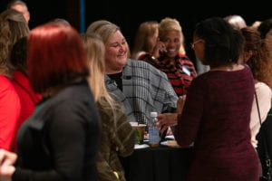 group networking during Women Force event