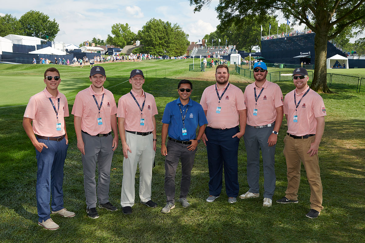Maryville students interning at the PGA Championships