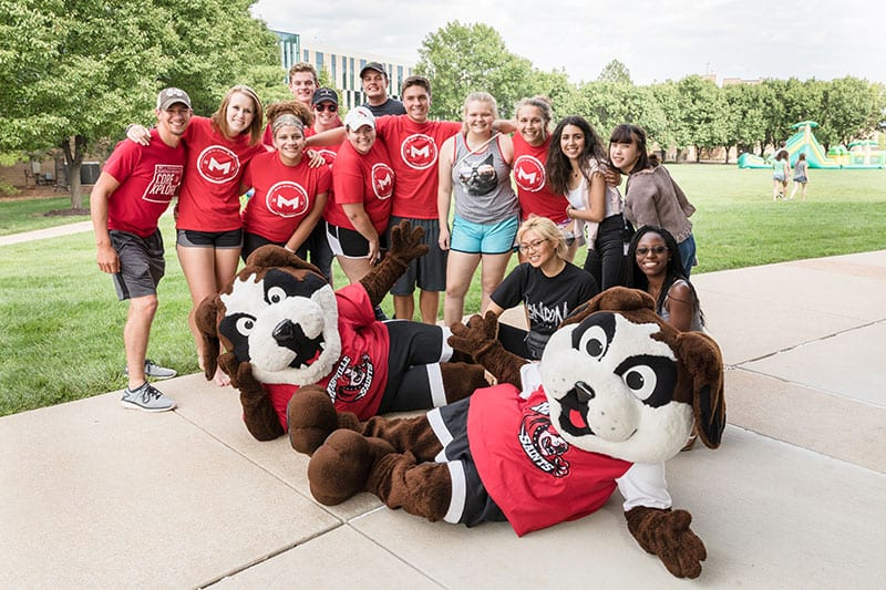 students with Louie
