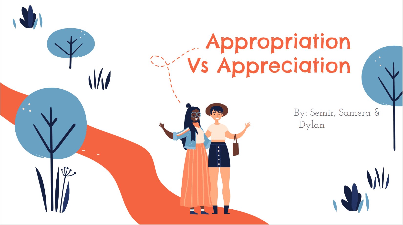 Cultural Appropriation Vs Appreciation title card of slidedeck