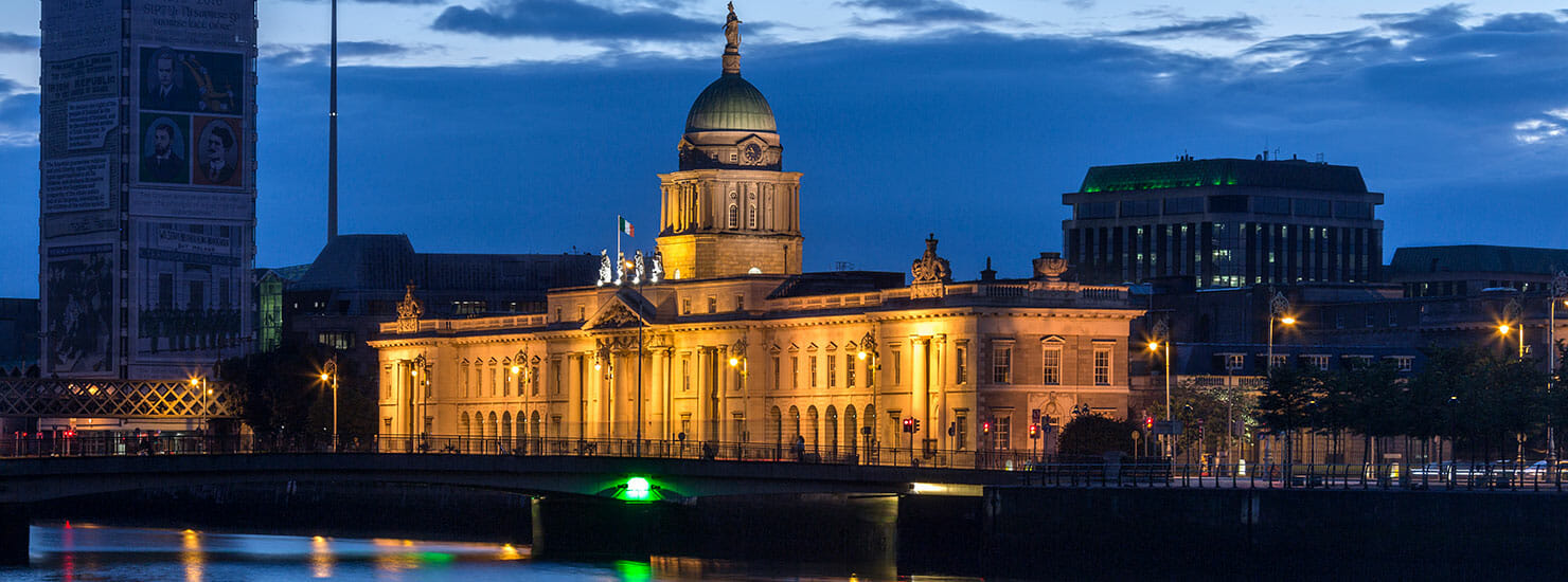 parliment building in Dublin, Ireland