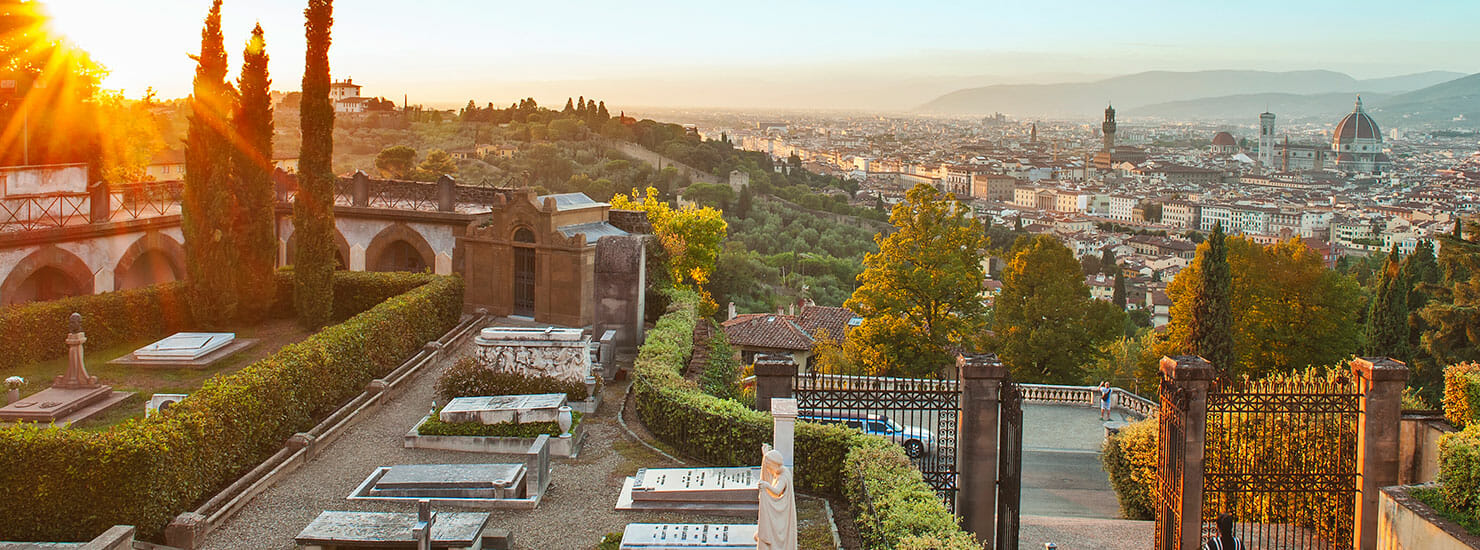 hillside view of Florence, Italy
