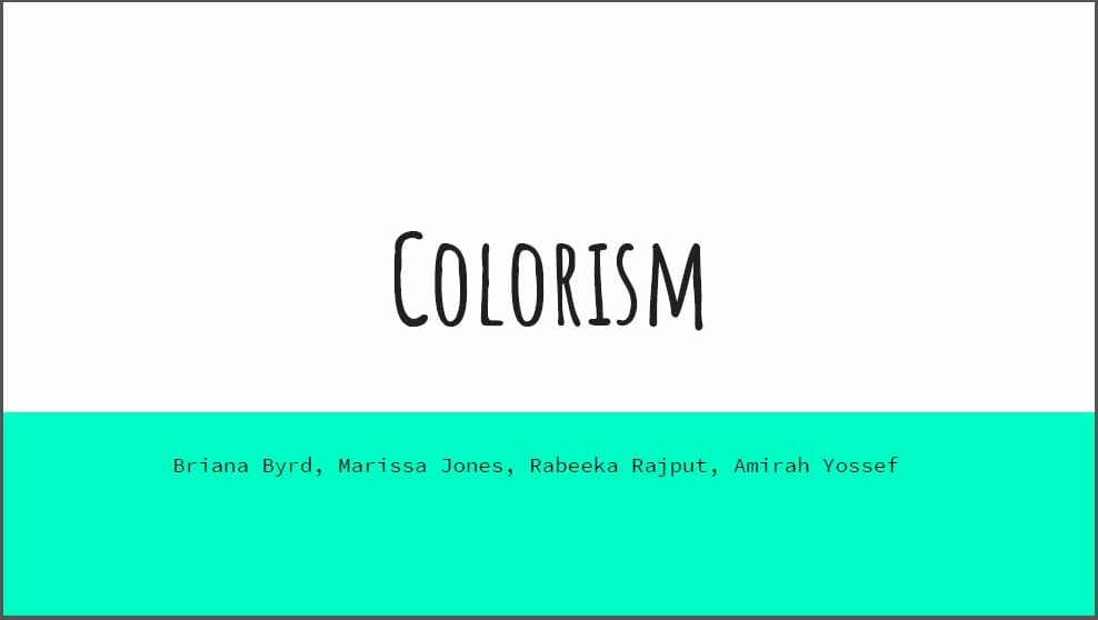 colorism poster