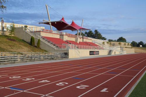 Maryville University's updated stadium and track