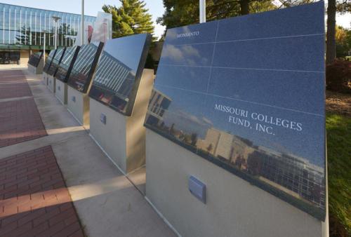 Visionary Leadership Wall at Maryville University