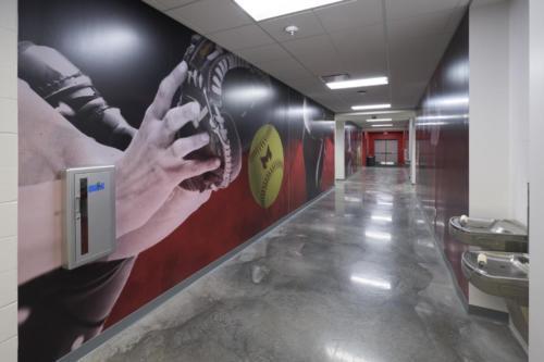 Maryville University's Athletic Complex hallway art