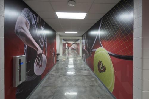 Maryville University's Athletic Complex hallway art (second pic)