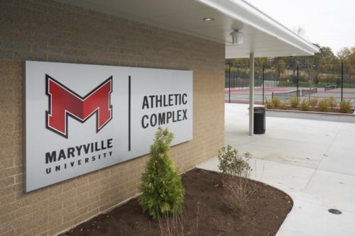 Maryville University's Athletic Complex outside sign