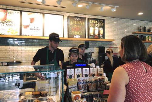 Students ordering at Starbucks