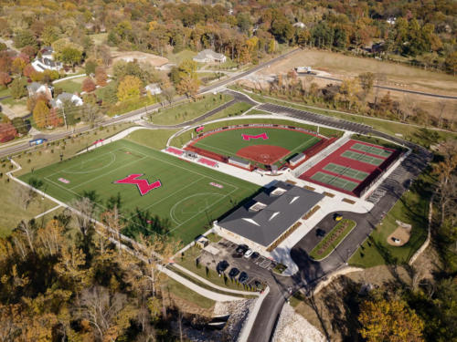 Maryville University's Athletic Complex aerial view