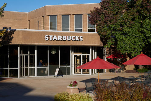 Exterior of Starbucks